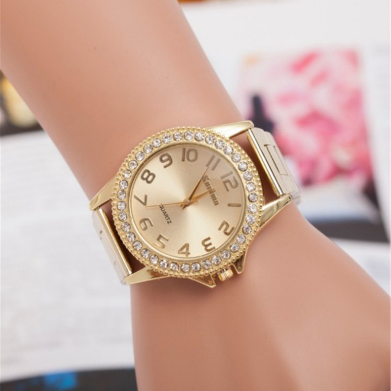 Fashion Simple Style Luxury Women Watches Diamond Decor Ladies Quartz Dress Wristwatch Stainless Steel Band Gold Watch ceasuri skone fashion simple watches for women lady quartz wristwatch stainless steel band watch for woman relogio femininos