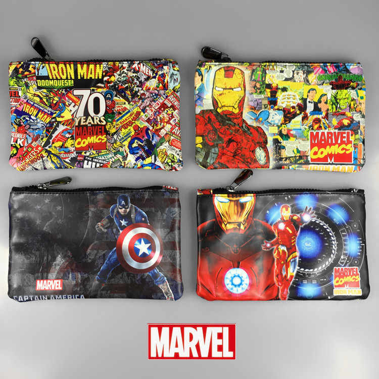 Anime wallet Avengers League around Manway Spider Man Iron Man USA short wallet purse for boys men