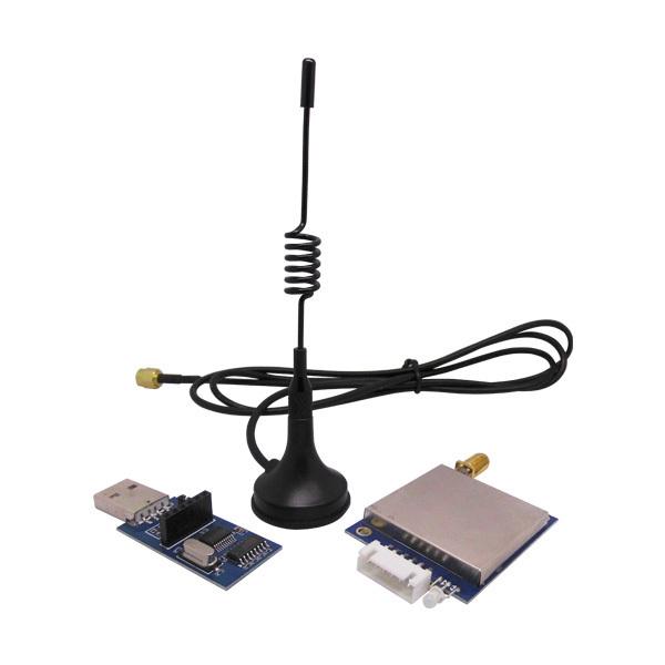 2 unids/lote 3 km de larga distancia 868 MHz 500 mW RS232 RF módulo de transceptor inalámbrico kit (SV651 + lechón antena + tablero puente usb)