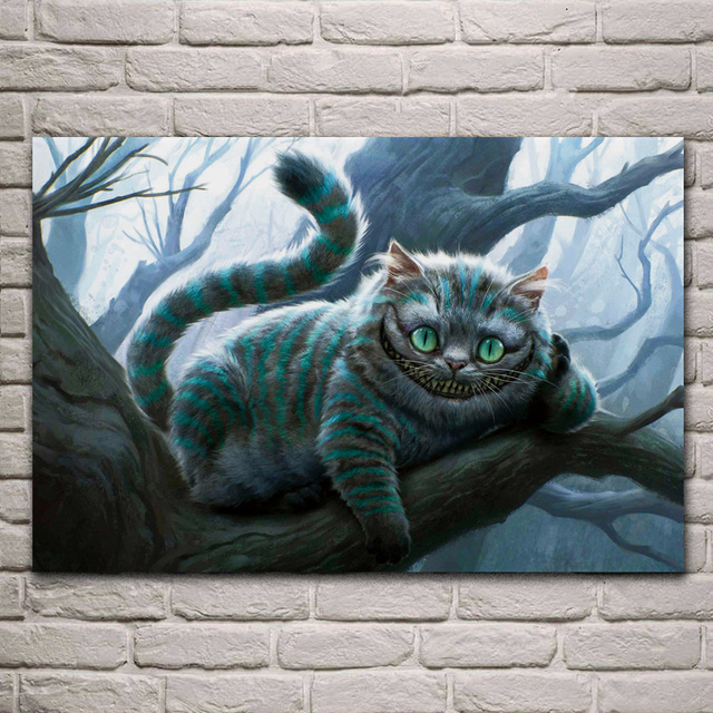 Alice Im Wunderland Cheshire Katze Wohnzimmer Home Wand Moderne