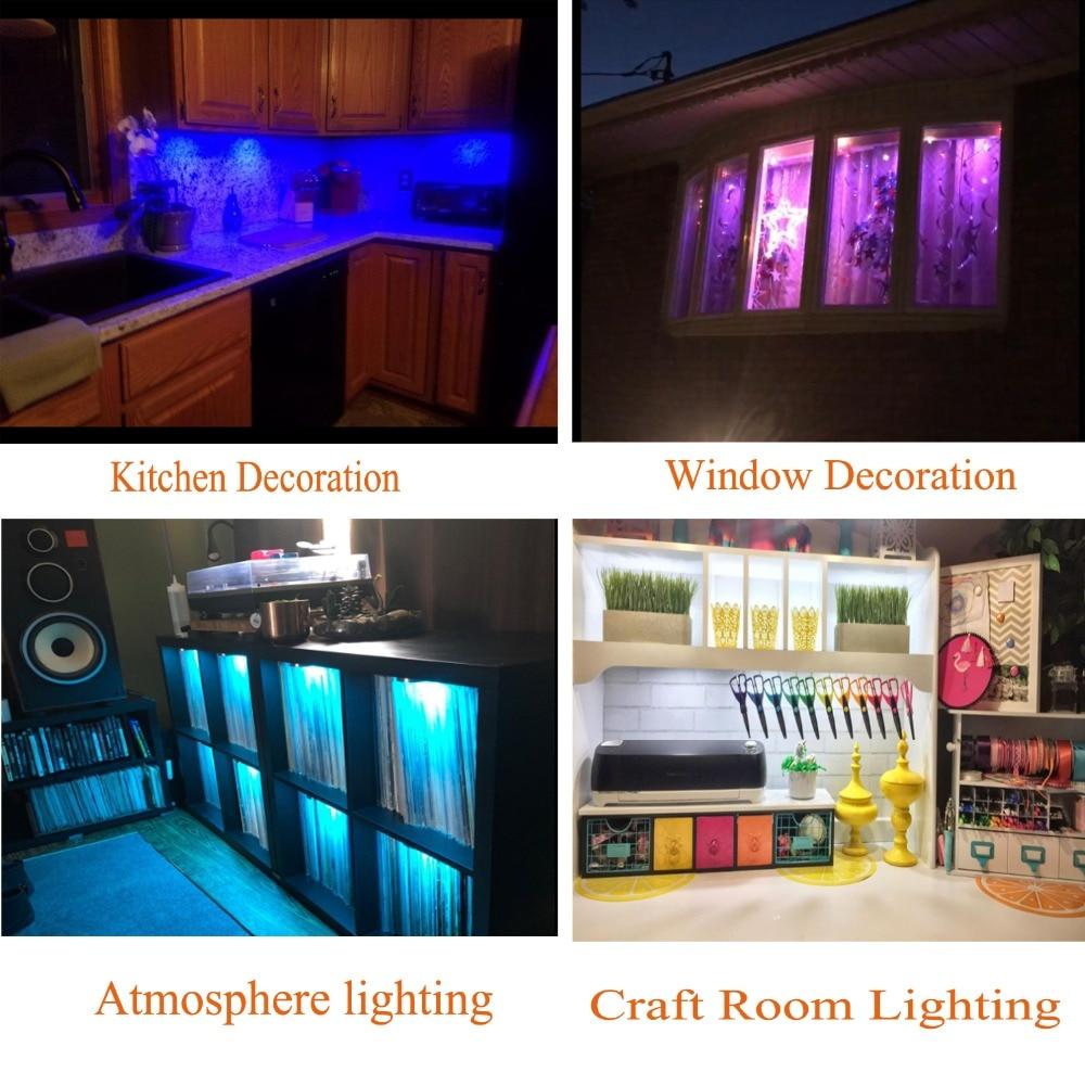 AIBOO LED Unter Kabinett Licht Puck Licht Kit RF Fernbedienung - Innenbeleuchtung - Foto 6