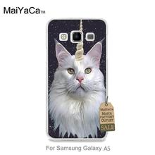 High Quality Classic High-end phone Accessories For case GALAXY A5 Unicorn Cat in star sky