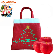 2 pcs Red Christmas Gift Candy bag Christmas tree Candy bags