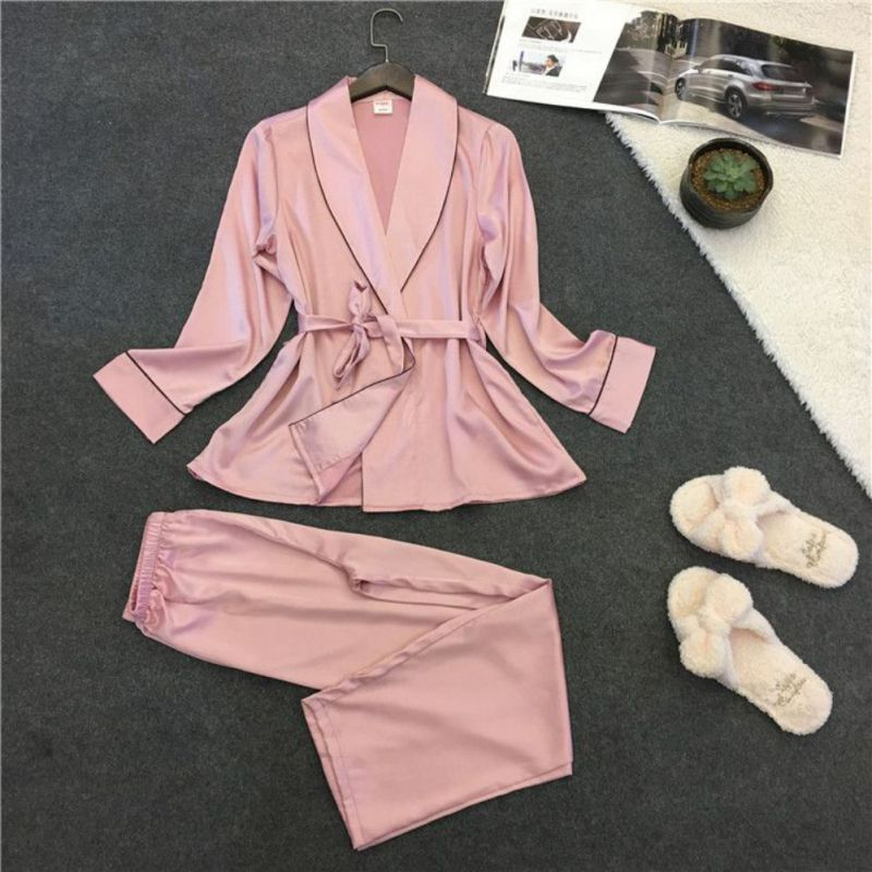 New Fashion Women   Pajamas     Set   Patchwork Stripe Turn-Down Collar Sleeveless Comfortable Sleepwear   Set     Pajamas   for Female