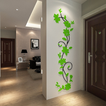 Flower Vine Wall Stickers Home Decor Large Paper Flowers Living Room Bedroom Wall Decor Sticker on The Wallpaper Diy Home Decals 11