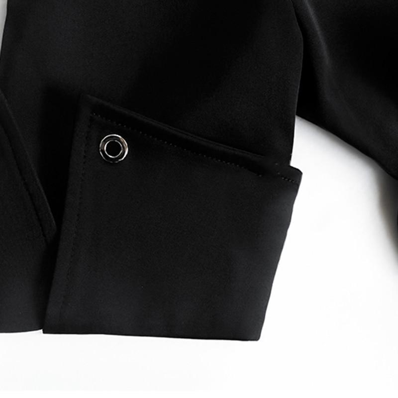 Mode Robes Ceintures Revers Col Dress À 2019 Femmes Grand Vêtements Mini Oxant Ol Taille Robe Asymétrique Automne Black Haute Noir nxqYw0HW7Z