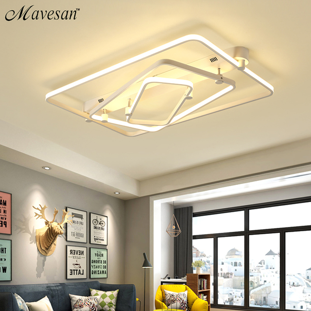 Mavesan New Ceiling Lights For Living Room Luminaria Abajur Indoor Fixture Lamp Home