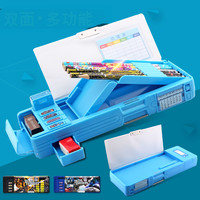 School Stationery Pencil Box Plastic Multifunctional Pen Box