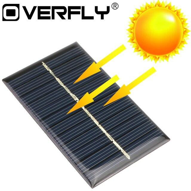 Solar Panel 5 V 6 V 12 V Mini Solar System DIY Für Batterie Handy Ladegeräte Tragbare Solarzelle 0,15 W 0,6 W 1 W 1,25 W 1,5 W