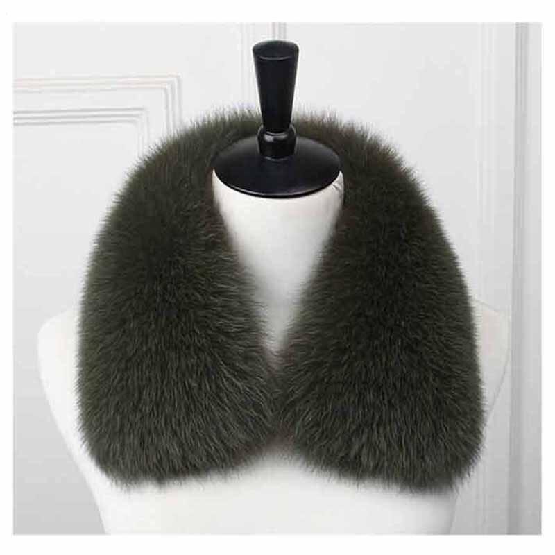Ms. minshu homens genuíno gola de pele de raposa 100% natural cachecol de pele de raposa inverno pescoço mais quente jaqueta masculina gola de pele grande capuz guarnição