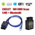 usbb+bluetoothG ELM327 V1.5 Better Than V2.1 Support All OBDII Protocols Multi-Language Diagnostic Scanner