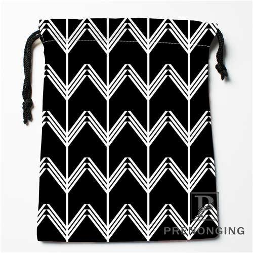 Custom Black White Wave Drawstring Bags Printing Fashion Travel Storage Mini Pouch Swim Hiking Toy Bag Size 18x22cm 171203-04-10