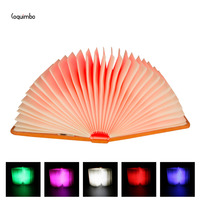 Coquimbo Folding Book Magnetic LED Night Light USB Port Rechargeable Desk Ceiling Decorative Colorful Lamp Gift