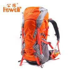 Hewolf Climbing Bag Hewolf Outdoor 45L+5L Hiking Backpack Daypack Outdoor Sport Trekking Camping Fishing Travel Rain Cover