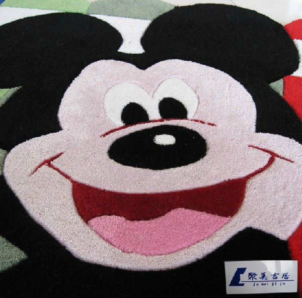 Aliexpress Children Room Area Rugs Mickey Mouse Carpet Cartoon Handmade Bed