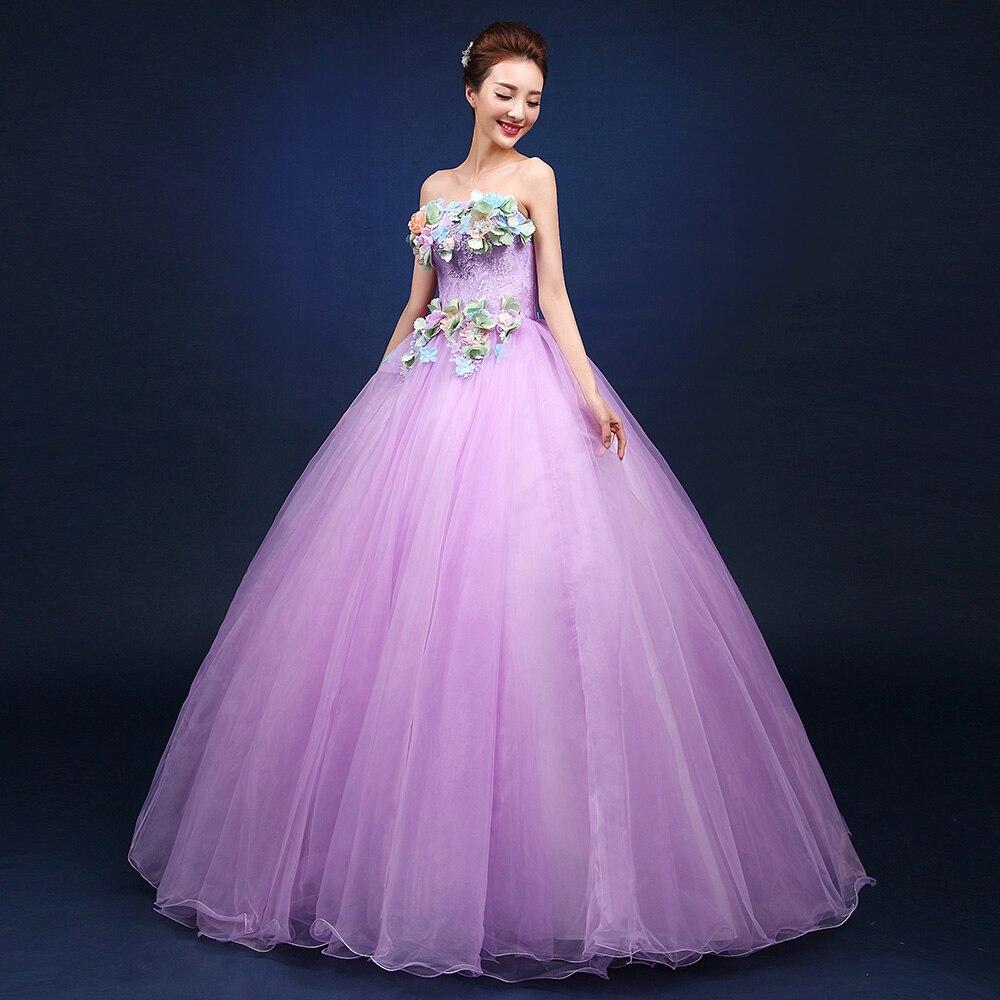 Lavender Quinceanera Dresses Strapless Off Shoulder Debutante ...