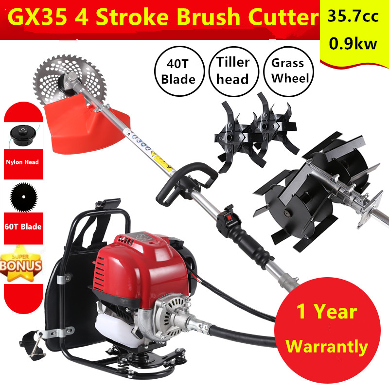 Grass Trimmer Trustful 2019 New High Quality Backpack Brush Cutter Grass Cutter With Gx35 4 Stroke 35cc Petrol Engine Multi Brush Strimmer Tree Cutter Careful Calculation And Strict Budgeting