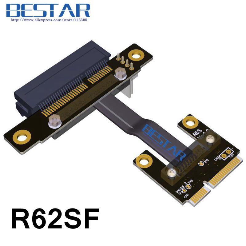 Msata mini PCIe mpcie WiFi Wan A PCIe 4x pci-e Riser X4 adaptador codo ángulo recto 8 Gbps para la minería bitcoin minero