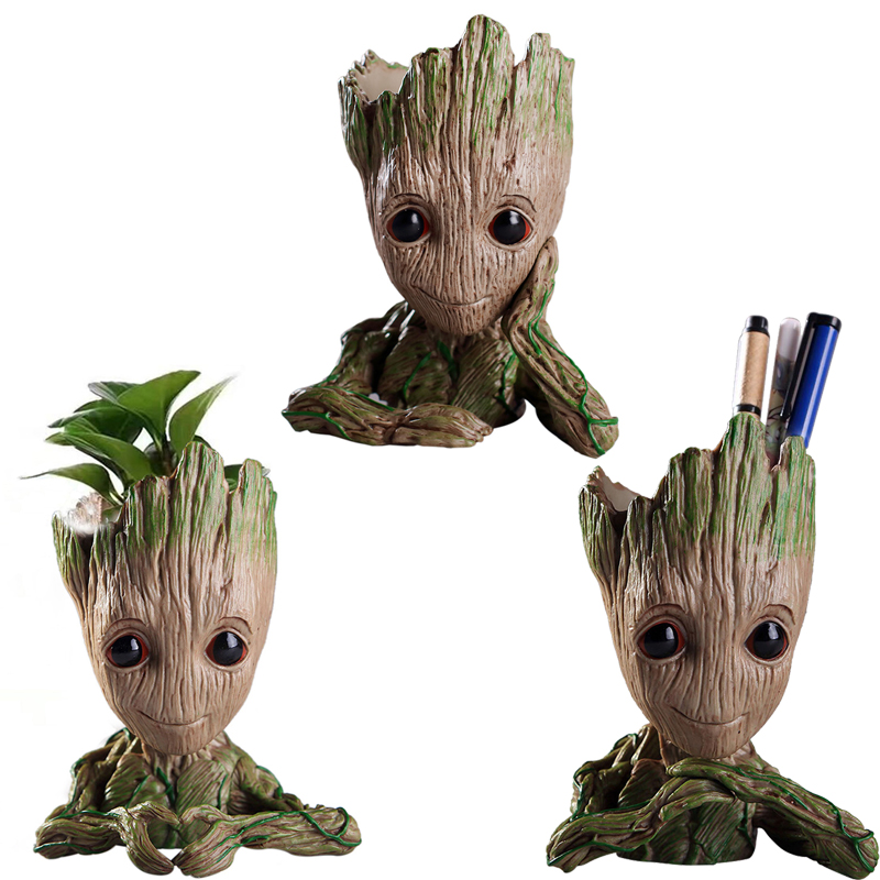 Baby Groot Flower Planter Pot Guardians Garden Flower Plant Pot Cute Toy Groot Pen Pot Holder
