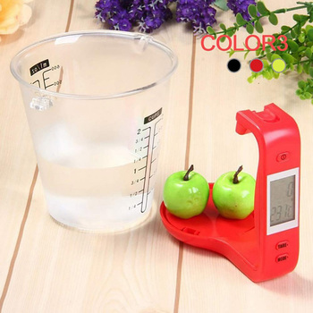 Measuring Cup Kitchen Scales Digital Beaker Libra Electronic Tool Scale with LCD Display Temperature Measurement Cups image