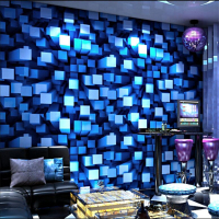 KTV Wallpaper 3d Stereo Fashion Bar Hotel Box Theme Room Gold Foil Silver Gold Ceiling Wallpaper