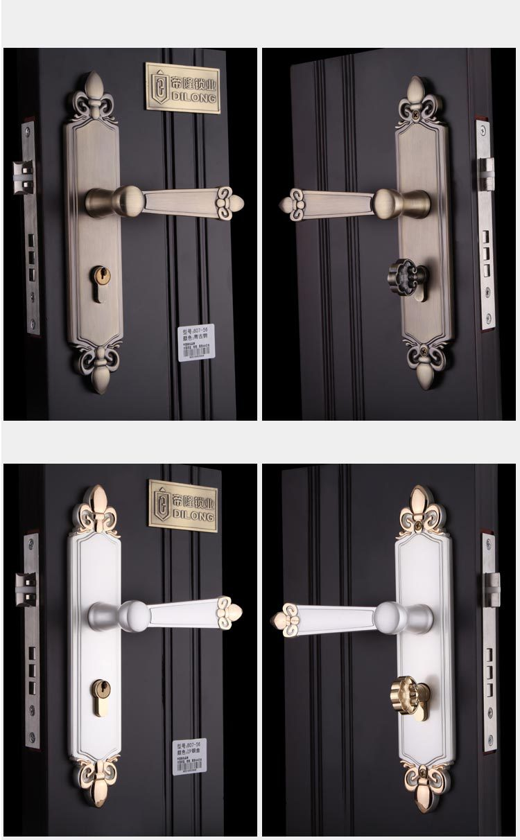 New aluminum material interior door lock living room - Door handles with locks for bedrooms ...
