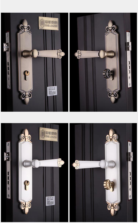 New aluminum material interior door lock Living Room Bedroom Bathroom door  handle lock(China (