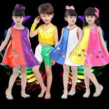 Nuevo niñas guitarra Jazz Dance Dress disfraces para cantantes etapa grupo  de danza moderna ropa de baile para niños 0779175519f
