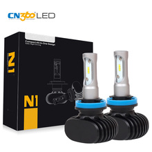 CN360 2PCS 50W 8000LM H8 H9 H11 LED Car Head font b Lamp b font Auto