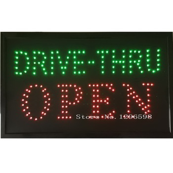 """24""""X13"""" Drive Thru Sign, LED Open Sign, Store Sign, Business Sign, Windows Sign with Animation"""