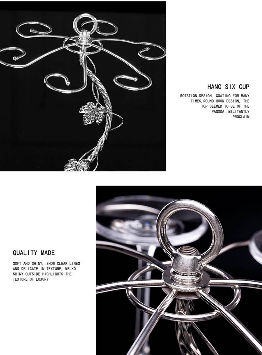 Fashion Decorative Metal Modern Hanging Wine Glass Racks Wine Cabinet Wedding Decor Gift Wine Glass Holder Wine Accessories KC1284 (6)