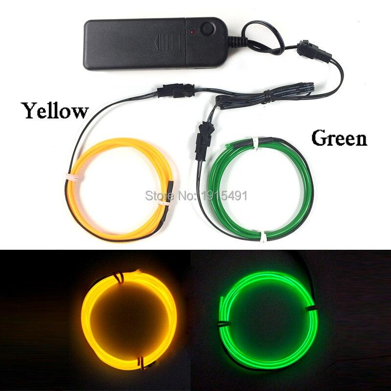 Billig! heißer Verkauf 2,3mm EL Kabel Seil Zwei Farbe Kombiniert ...