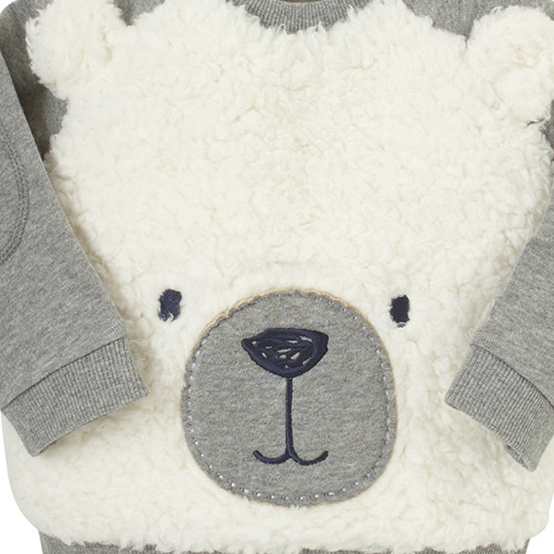2017 New Autumn Spring Boys Girls Sweatshirts Babies Bear Clothing Pullover Cartoon Children's Patchwork Cute Kids Sweatshirt
