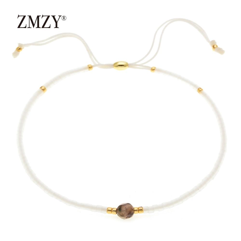 ZMZY Miyuki Delica, бисер, женские браслеты, ювелирные изделия дружбы, модные, сделай сам, Bijoux Femme, простые браслеты, Прямая поставка - Окраска металла: QSSL003-8