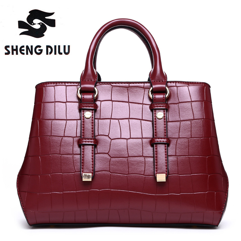 shengdilu brand genuine leather handbag 2018 new women tote Crocodile shoulder Messenger bag bolsa feminina free Shipping elegant serpentine pattern handbag shengdilu brand 2018 new women genuine leather tote shoulder messenger bag free shipping