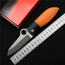 Good quality spyder C184 folding knife VG10 blade G10+steel Handle outdoor hunting Camping Pocket fruit Knife EDC tool wholesale