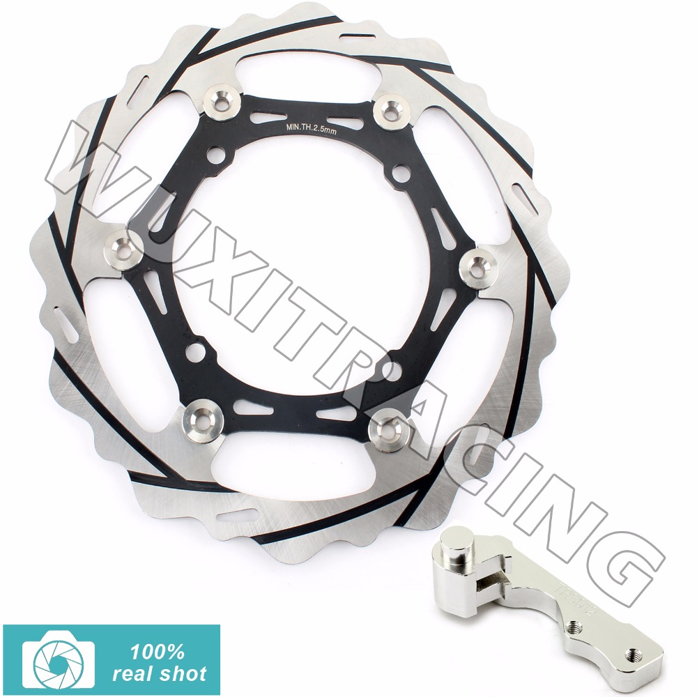 Oversize 270MM Front Brake Disc Rotor Bracket for YAMAHA WR125 WR250 YZ125 YZ250 WRF250 WR450F YZ250F YZF450 WRF426 YZ426F 98-14 high quality 270mm oversize front mx brake disc rotor for yamaha yz125 yz250 yz250f yz450f motorbike front mx brake disc