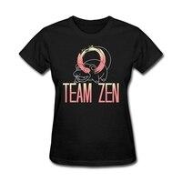 חולצות T נשים למעלה איכות זן צוות גדול מדהים בנות מתנת יום אב קלאסית חולצות Tees צווארון חנות