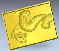 3d model relief for cnc in STL file format Panno_Snake_1