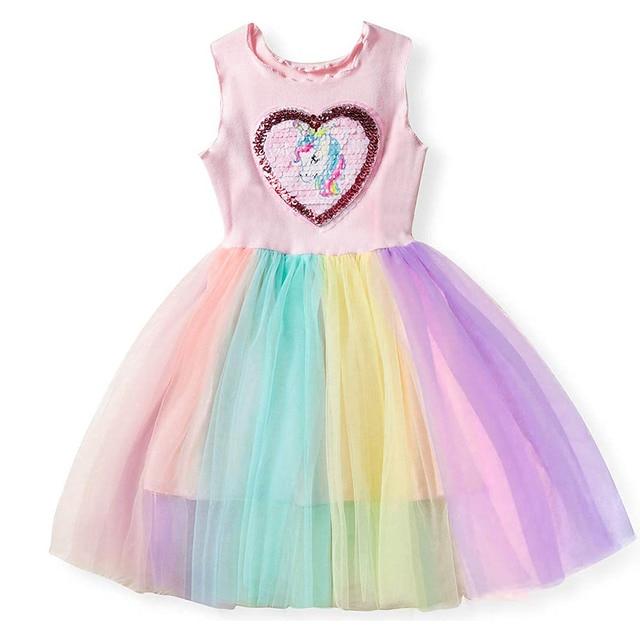 2d1dbd052b8f Unicorn Dress Baby Girl Clothes Kids Tutu Dress 2019 Summer New Girls Party  Dresses Princess Costume Children Clothing Vestidos