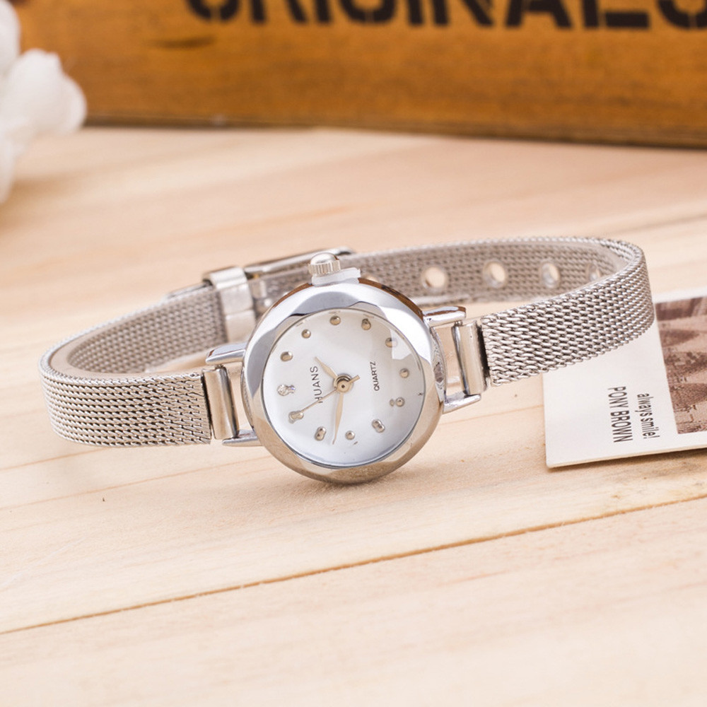 Top Brand Fashion Wristwatches Stainless Steel Band Dress Watches Women Quartz-Watch Relogio Feminino New Clock 2018 #F