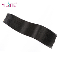 Yilite 20inch Double Drawn Full Cuticle Remy Hair Tape in Hair Extensions, 20pcs Human Hair Tape in Hair Extensions