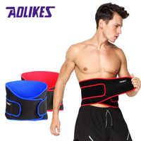 AOLIKES haute élastique ceinture imperméable à l'eau Ajustable taille soutien orthèse Fitness gymnase lombaire dos taille soutien Protection pour le sport