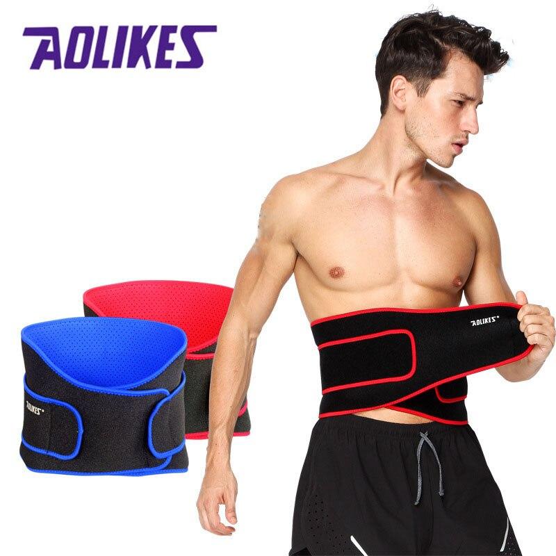 AOLIKES alta elástica impermeable cinturón Ajustable de la cintura apoyo Fitness Gym Lumbar cintura trasera soporte de protección para deportes