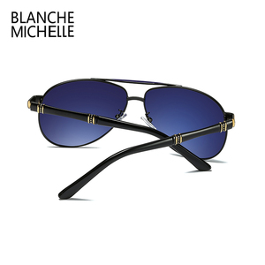 Image 3 - Hohe Qualität Legierung Pilot Sonnenbrille Männer polarisierte UV400 Sonnenbrille Herren Fahren Sonnenbrille Mann Sonnenbrille 2020 oculos Mit Box sunglasses men sun glasses man sunglass mens