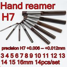 3 4 5 6 7 8 9, 10, 11, 12, 13, 14, 15, 16 мм 14 шт./компл. точность H7+ 0,006-+ 0,012 мм ручной развертки