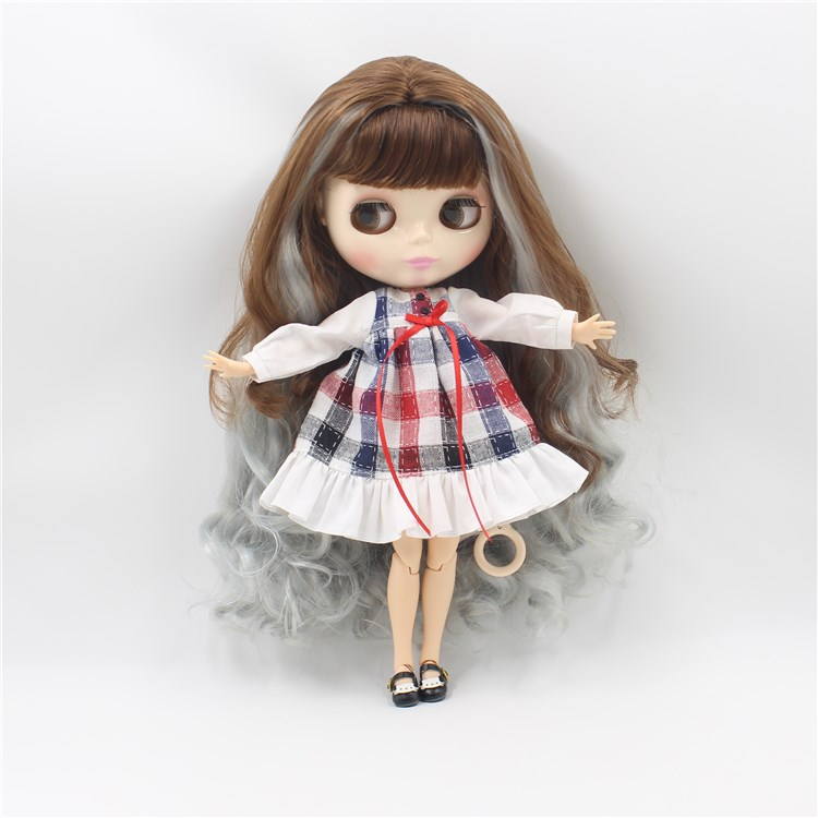цена на Blyth doll nude double colors long hair fashion dolls with joint body DIY toys for girls gifts