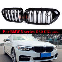 High Quality ABS Gloss Black Kidney Grilles For BMW 5 Series G30 G31 G38 F90 2018+