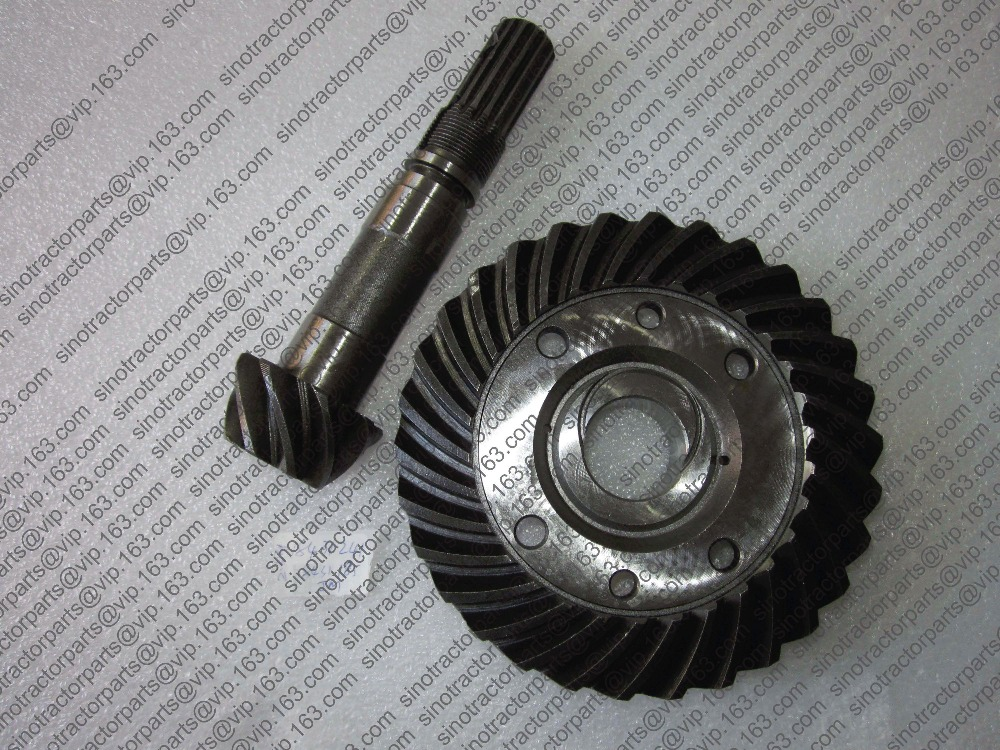 JINMA 184 254 set of spiral bevel gear and shaft for front axle, part number: 184.31.185 and 184.31.241