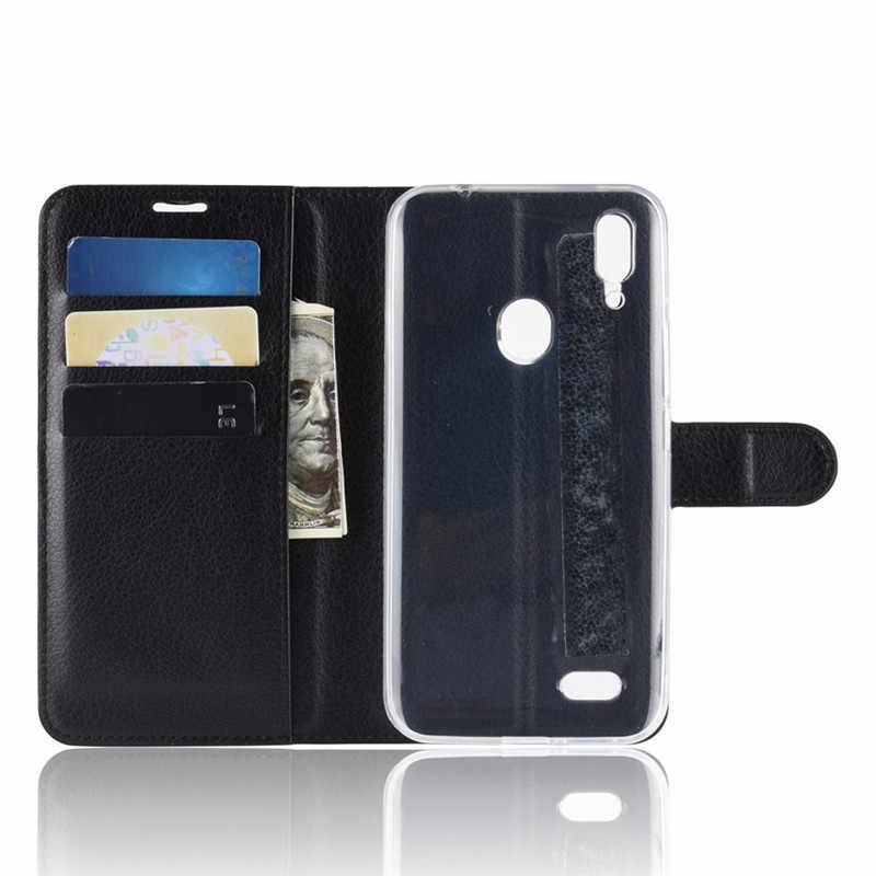 Leagoo 高級財布 Pu レザーケースシリコーン電話ケース Leagoo M11 M 11 Leagoom11 ケースフリップ裏表紙 6.18 税関